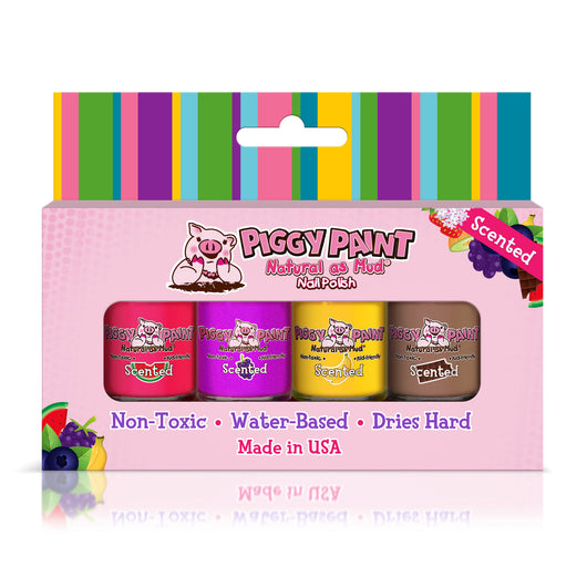Piggy Paint Gift Sets 4pk ~ Scented Polish Set