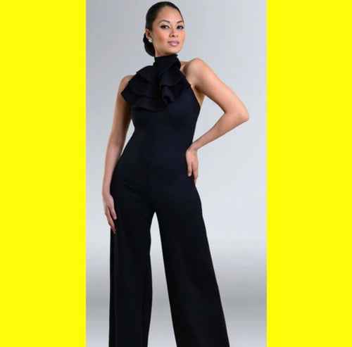 Halter Black Jumpsuit