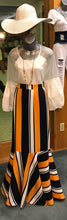 Striped Trumpet Skirt