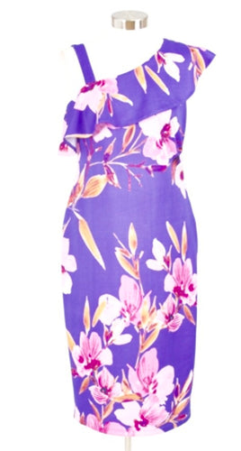 Floral print lavender dress