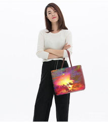 standing model with Light from a hidden source tote bag
