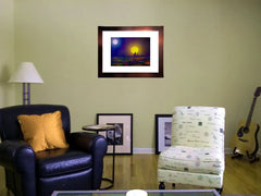 matted print on wall