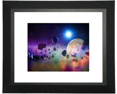 asteroid matted print