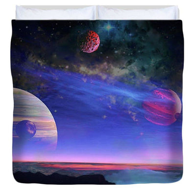 A View Of Jupiter - Duvet Cover by Don White - Art Dreamer