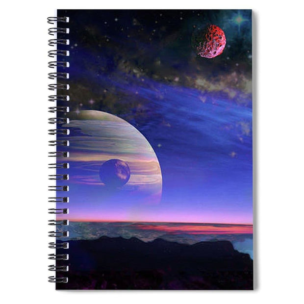 A View Of Jupiter - Spiral Notebook by Don White - Art Dreamer