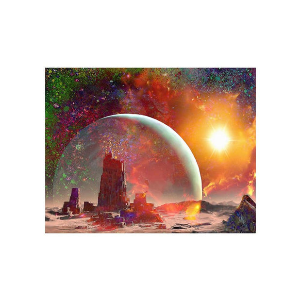 Abandoned Outpost Matted Print - 11 x 14 | Space Travel Art