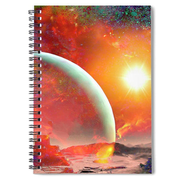 Abandoned Outpost - Spiral Notebook by Don White - Art Dreamer