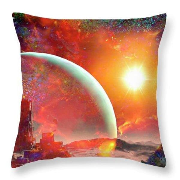 Abandoned Outpost - Throw Pillow by Don White - Art Dreamer