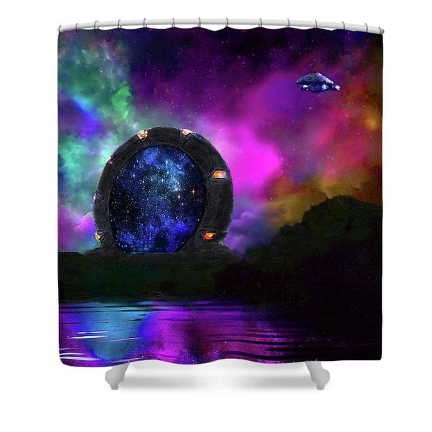 Alien Star Gate Portal - Shower Curtain by Don White - Art Dreamer