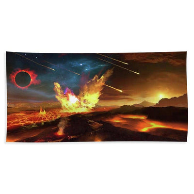 Angry Planet - Beach Towel by Don White - Art Dreamer