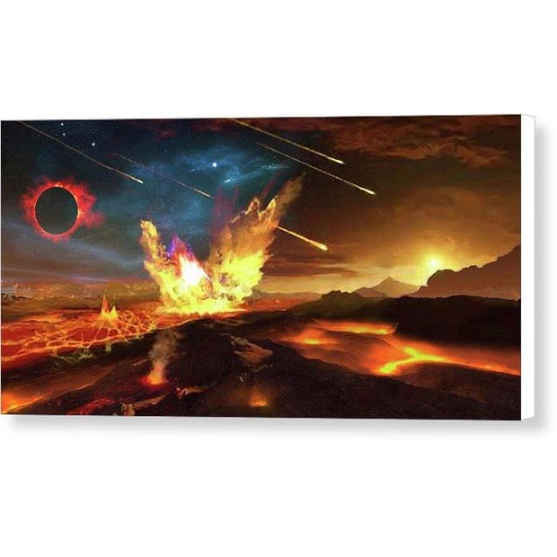 Angry Planet - Canvas Print by Don White - Art Dreamer