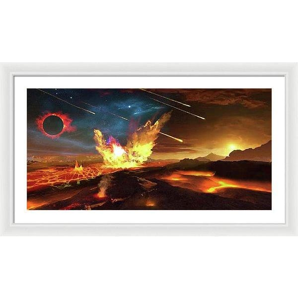 Angry Planet - Framed Print by Don White - Art Dreamer