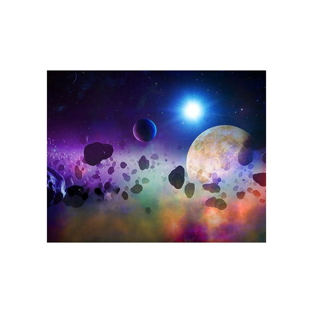Asteroids Matted Print - Outer Space | Space Travel Art