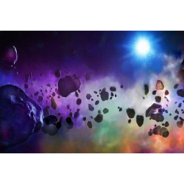 Asteroids Point Of View - by Don White - 12.000 x 8.000 / Archival Matte Paper - Art Print