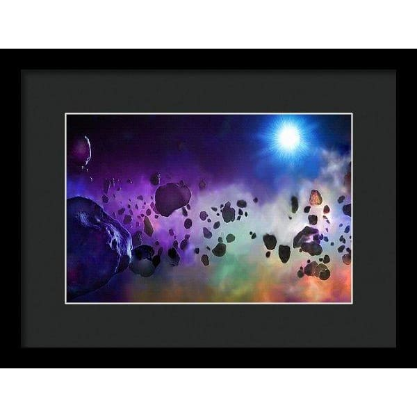 Asteroids Point Of View - Framed Print - 12.000 x 8.000 / Black / Black - Framed Print