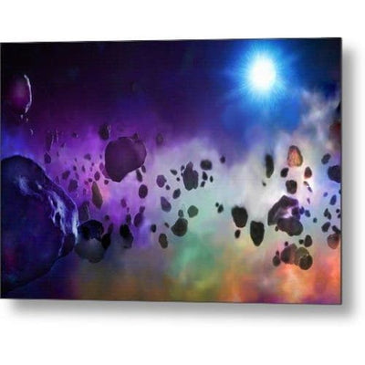 Asteroids Point Of View - Metal Print - 12.000 x 8.000 - Metal Print