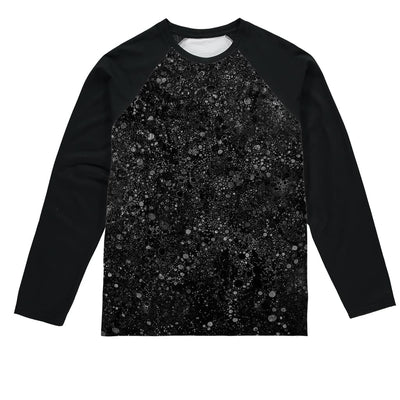 black template Sublimation Baseball Long Sleeve T-Shirt by Don White - Art Dreamer