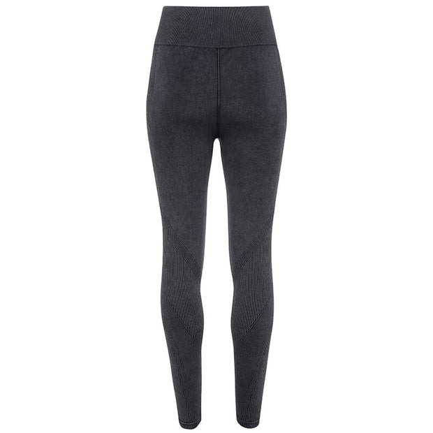 black template Women's Seamless Multi-Sport Denim Look Leggings by Don White - Art Dreamer