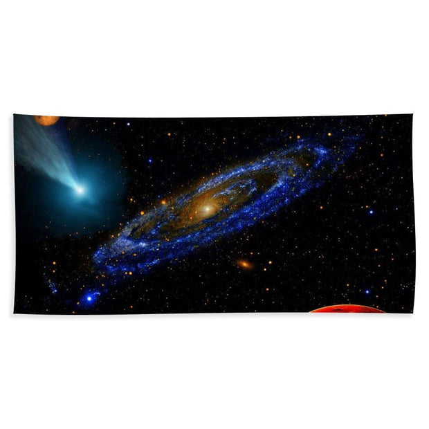 Blue Galaxy - Bath Towel - Bath Sheet (37 x 74) - Bath Towel