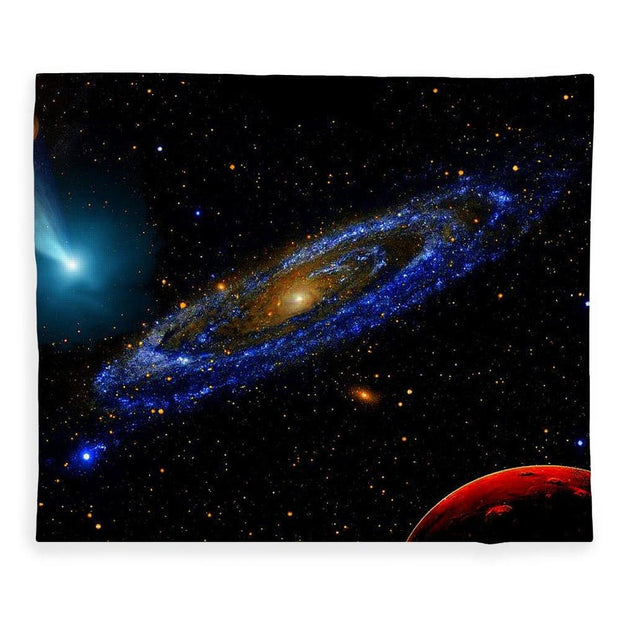 Blue Galaxy - Blanket - 50 x 60 / Plush Fleece - Blanket