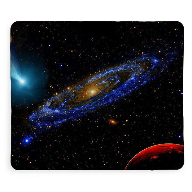 Blue Galaxy - Blanket - 50 x 60 / Sherpa Fleece - Blanket