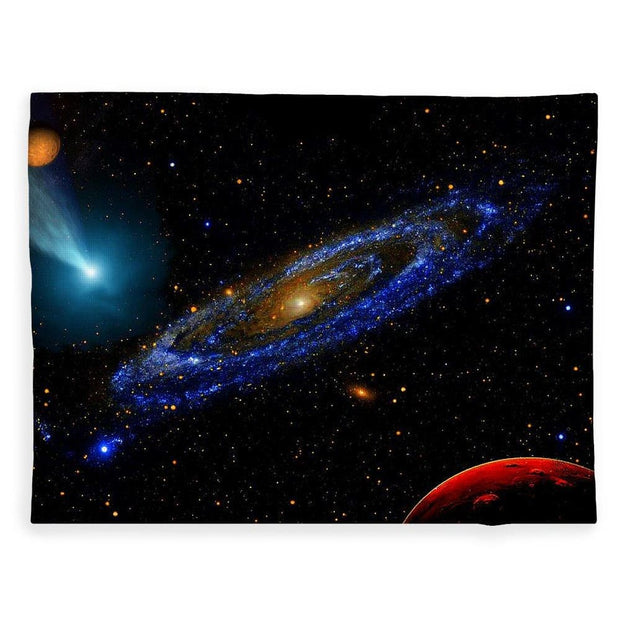 Blue Galaxy - Blanket - 60 x 80 / Plush Fleece - Blanket