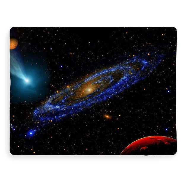 Blue Galaxy - Blanket - 60 x 80 / Sherpa Fleece - Blanket