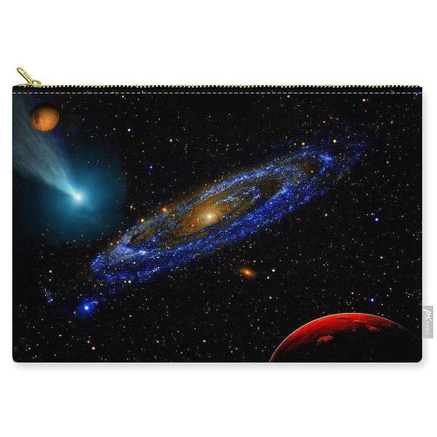 Blue Galaxy - Carry-All Pouch - Large (12.5 x 8.5) - Carry-All Pouch