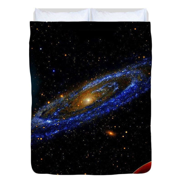 Blue Galaxy - Duvet Cover - Full - Duvet Cover