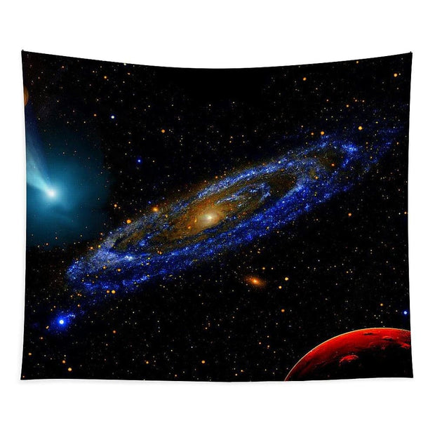 Blue Galaxy - Tapestry - 88 x 104 - Tapestry