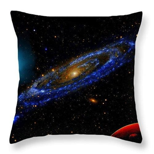 Blue Galaxy - Throw Pillow - 14 x 14 / No - Throw Pillow
