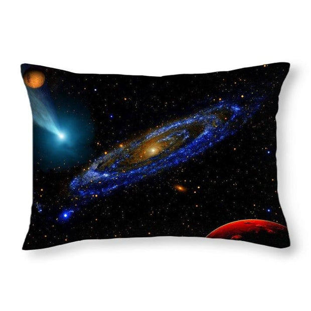 Blue Galaxy - Throw Pillow - 20 x 14 / No - Throw Pillow