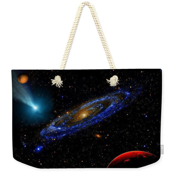 Blue Galaxy - Weekender Tote Bag - 24 x 16 / Natural - Weekender Tote Bag