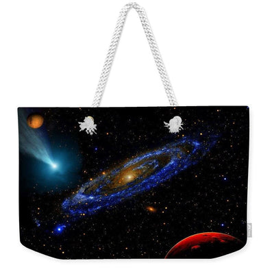 Blue Galaxy - Weekender Tote Bag - 24 x 16 / White - Weekender Tote Bag