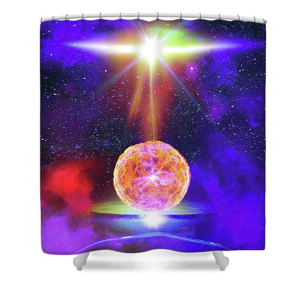 Celestial Energy - Shower Curtain by Don White - Art Dreamer