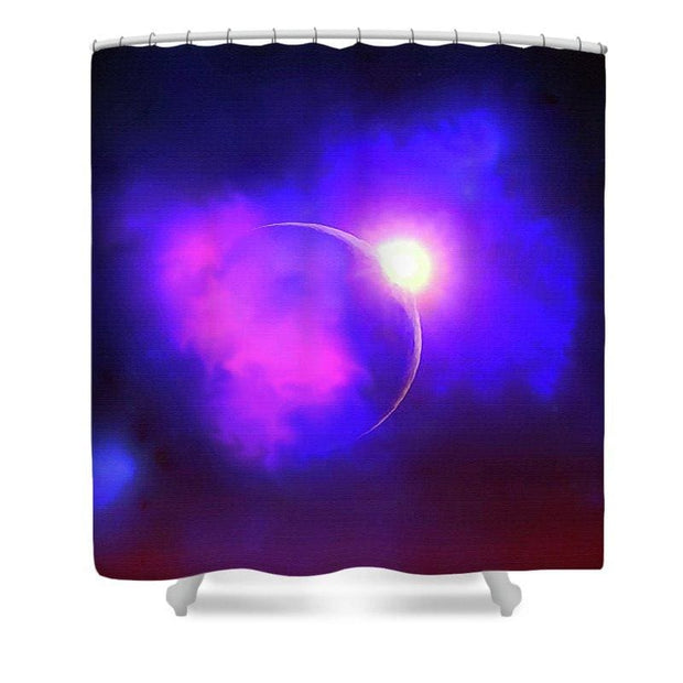 Cloud Moon  - Shower Curtain by Don White - Art Dreamer