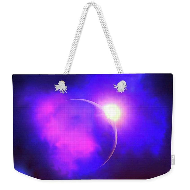 Cloud Moon  - Weekender Tote Bag by Don White - Art Dreamer