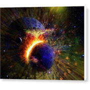 Collision Of Planets - Canvas Print - 8.000 x 6.000 / White / Glossy - Canvas Print