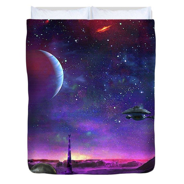 Colony Patrol Services - Duvet Cover by Don White - Art Dreamer