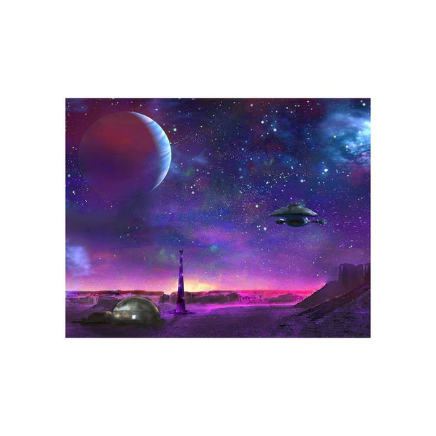 Colony Patrol Services Matted Prints - Outer Space | Space Travel Art