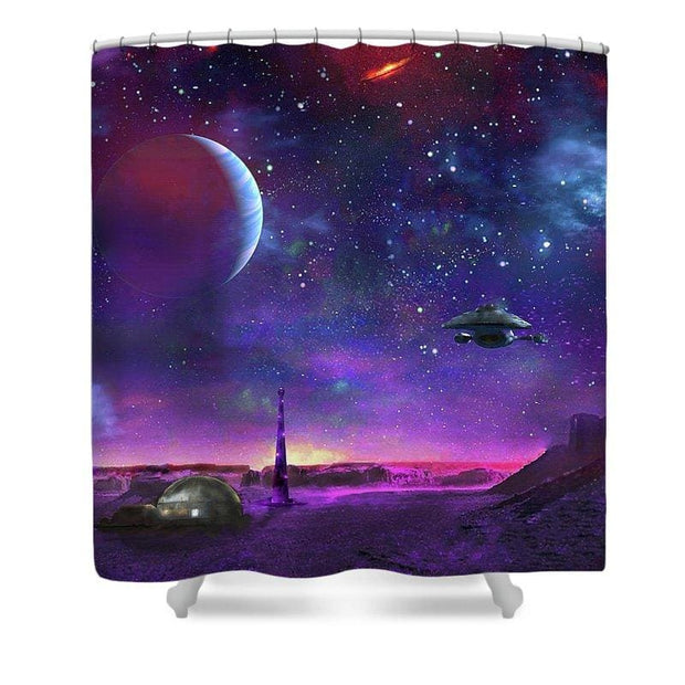 Colony Patrol Services - Shower Curtain by Don White - Art Dreamer