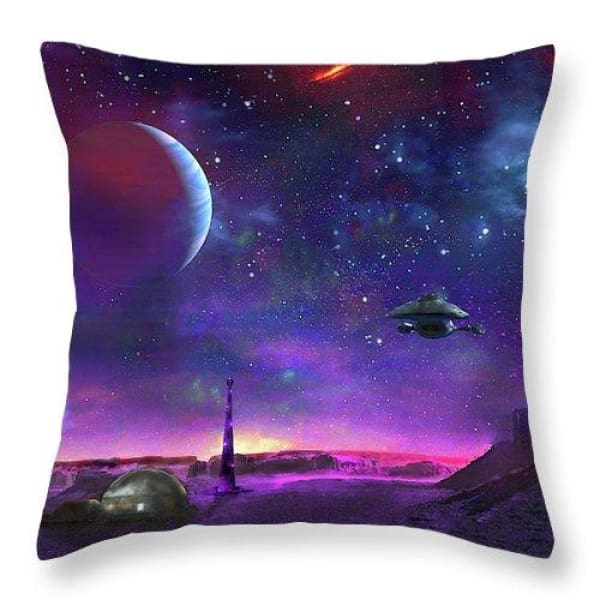 Colony Patrol Services - Throw Pillow by Don White - Art Dreamer