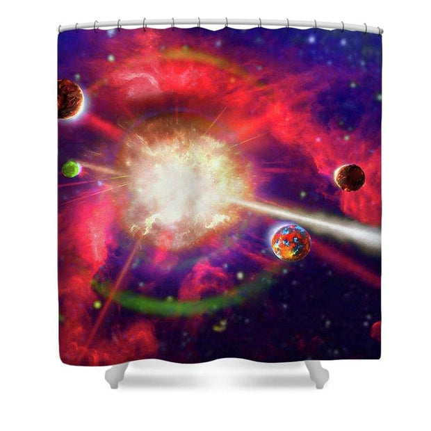 Creation/destruction - Shower Curtain by Don White - Art Dreamer