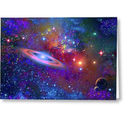 Deep Space Drifting - Greeting Card by Don White - Art Dreamer