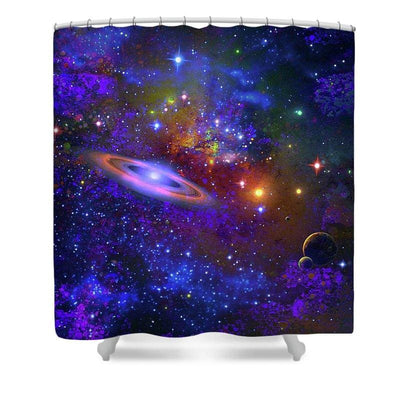 Deep Space Drifting - Shower Curtain by Don White - Art Dreamer