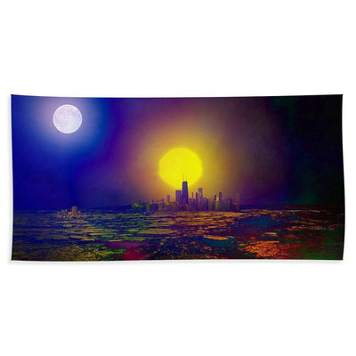 Deserted City - Beach Towel - Beach Towel (32 x 64) - Beach Towel