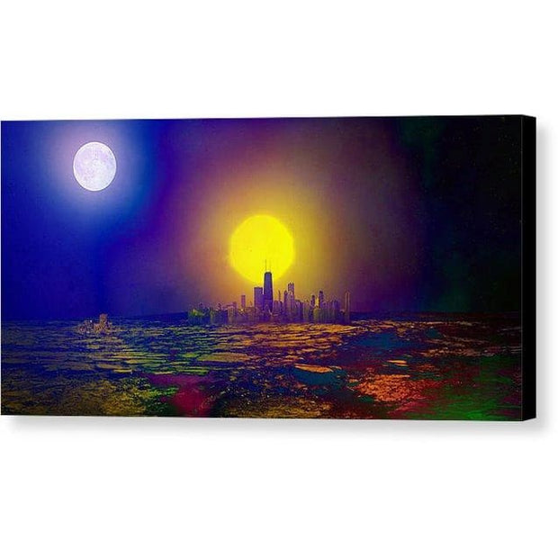 Deserted City - Canvas Print - 12.000 x 6.000 / Black / Glossy - Canvas Print
