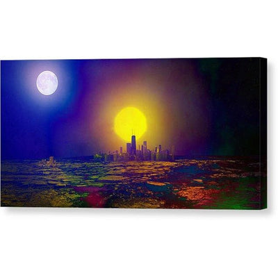 Deserted City - Canvas Print - 12.000 x 6.000 / Mirrored / Glossy - Canvas Print