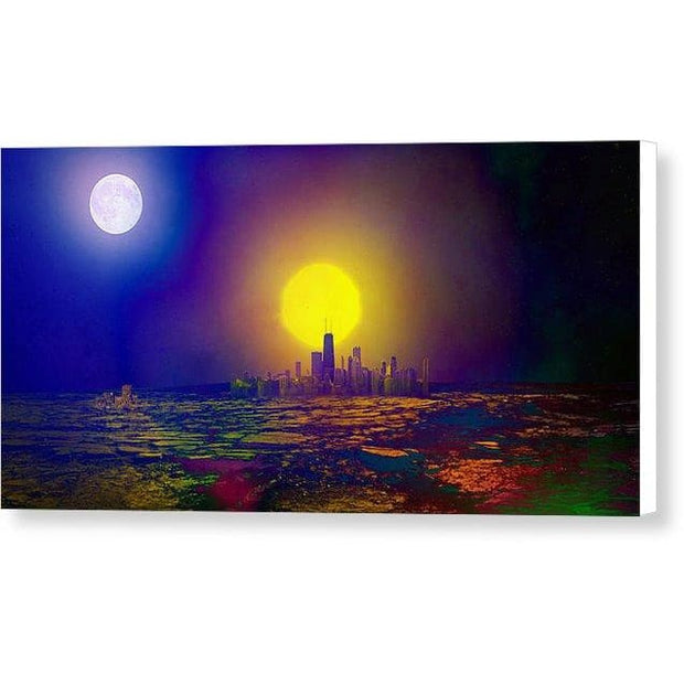 Deserted City - Canvas Print - 12.000 x 6.000 / White / Glossy - Canvas Print