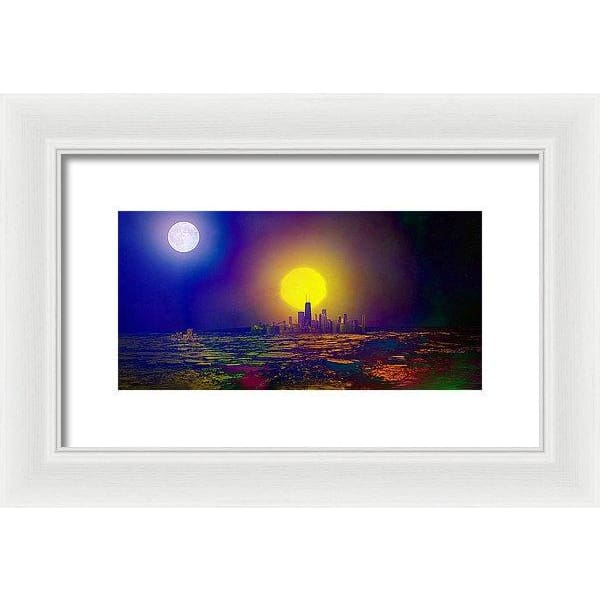Deserted City - Framed Print - 12.000 x 6.000 / White / White - Framed Print